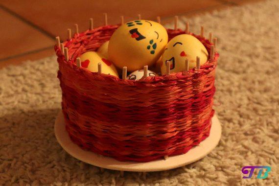 Osterkorb final Ostereier