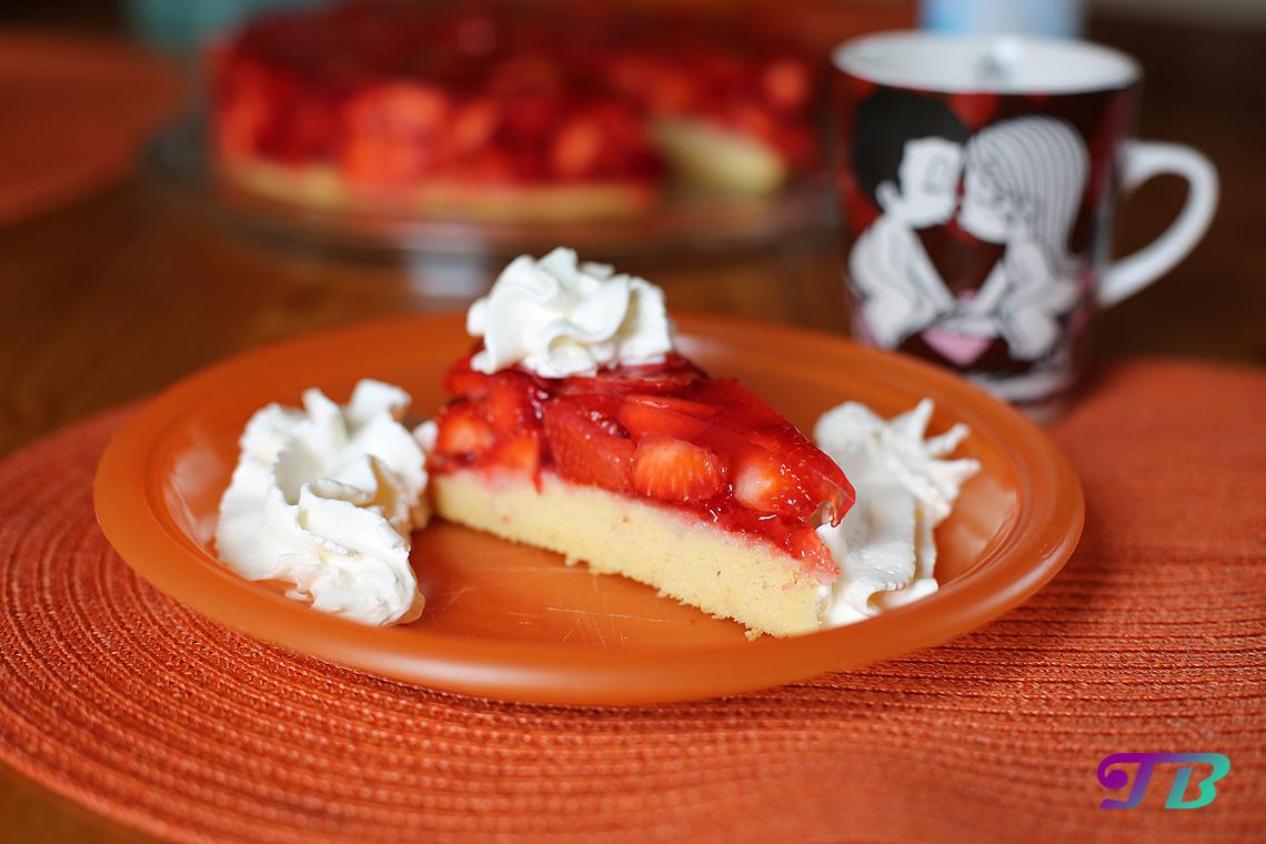 Erdbeeren Erdbeerkuchen Sahne