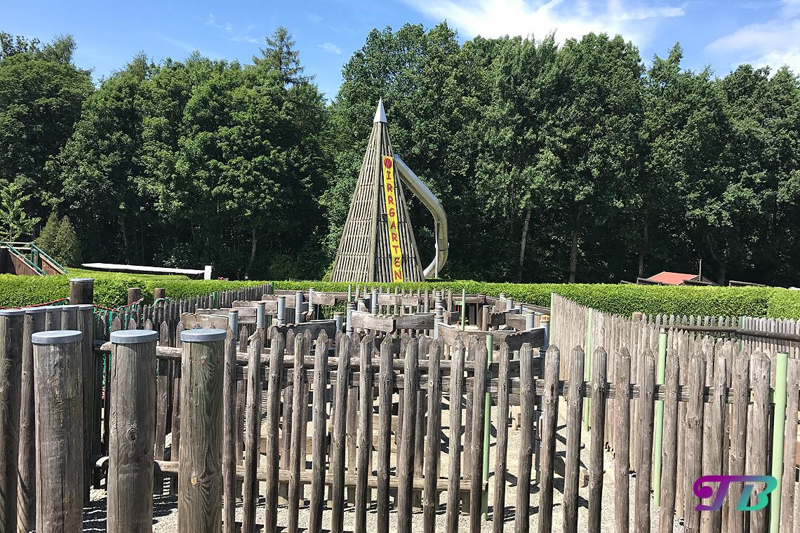 Irrgarten Kleinwelka Rutsche Ausgang Turm