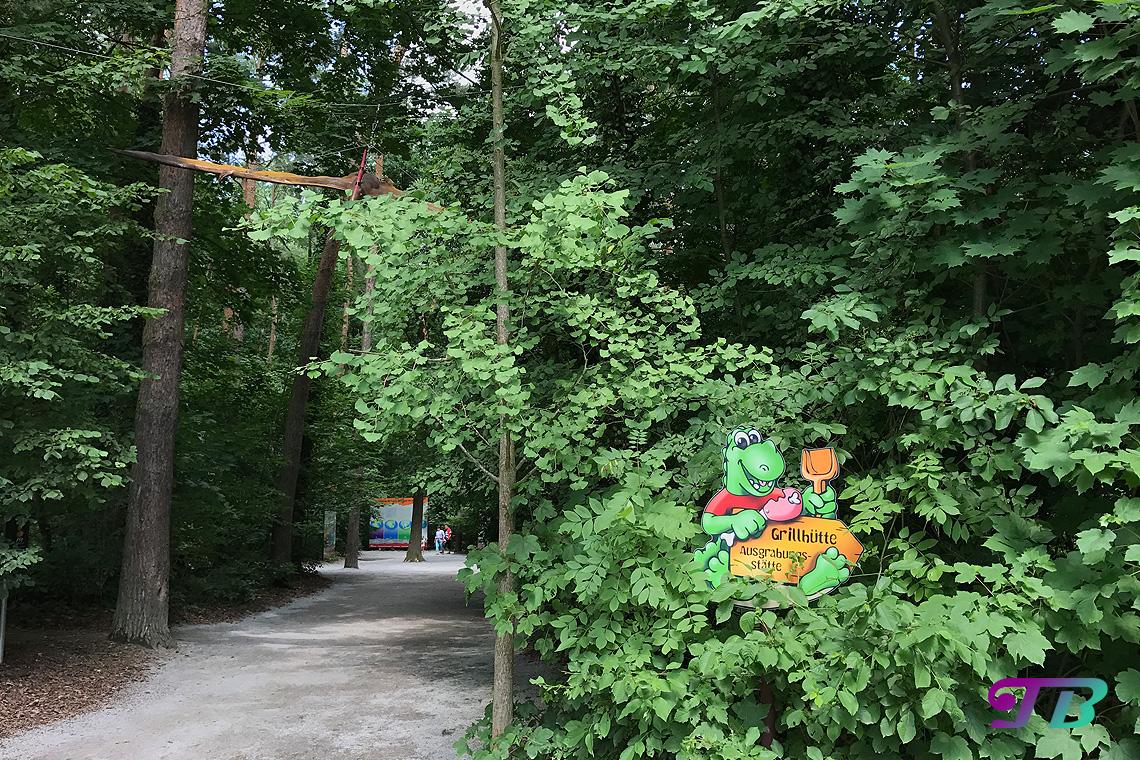 Saurierpark Kleinwelka Ausgrabungsstätte Wegweise