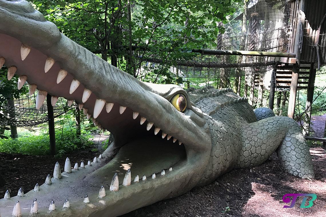 Saurierpark Kleinwelka Kletterwald Saurier Deinosuchus