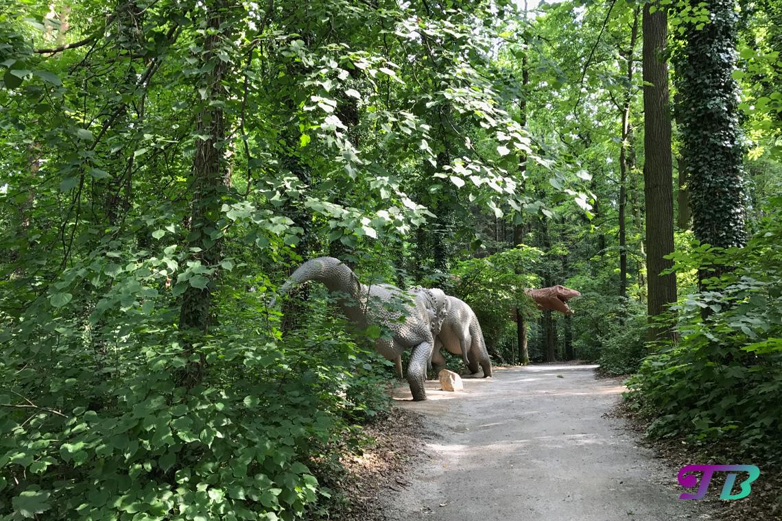 Saurierpark Kleinwelka Saurier Tyrannosaurus Pachycephalosaurus
