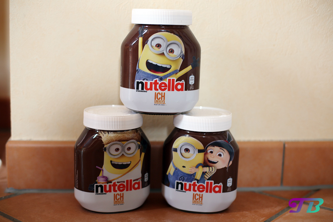 minions nutella glas schokoaufstrich teenie blog teenieblog. Black Bedroom Furniture Sets. Home Design Ideas