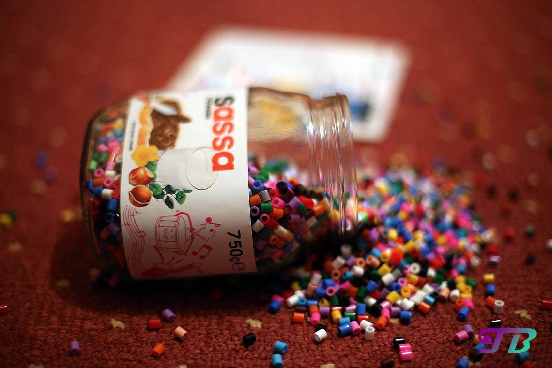 Nutella-Glas DIY Bügelperlen
