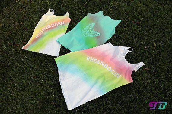 Regenbogen Shirts DIY