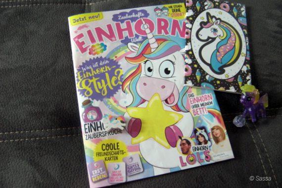 Einhorn Zeitschrift mit Einhorn-Extras