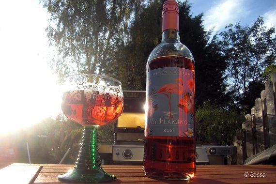 Flamingo Trend auch für Erwachsene - Wein