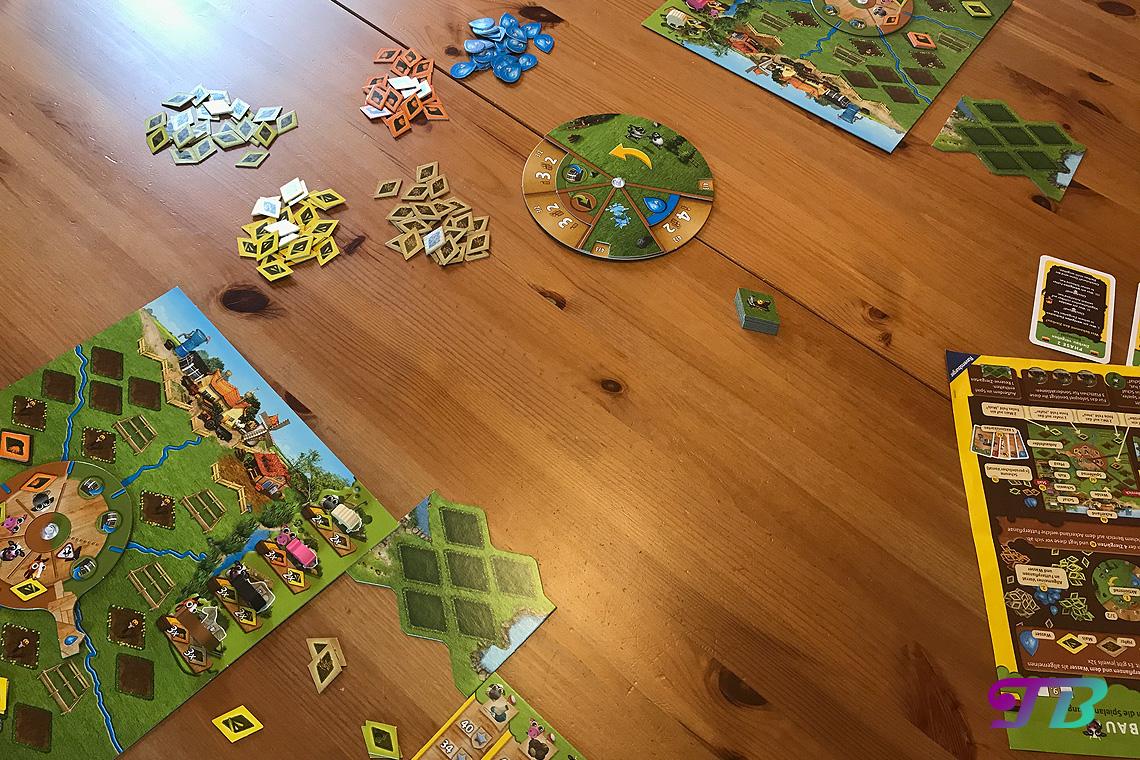 Farmerama Brettspiel Spiel Aufbau Material