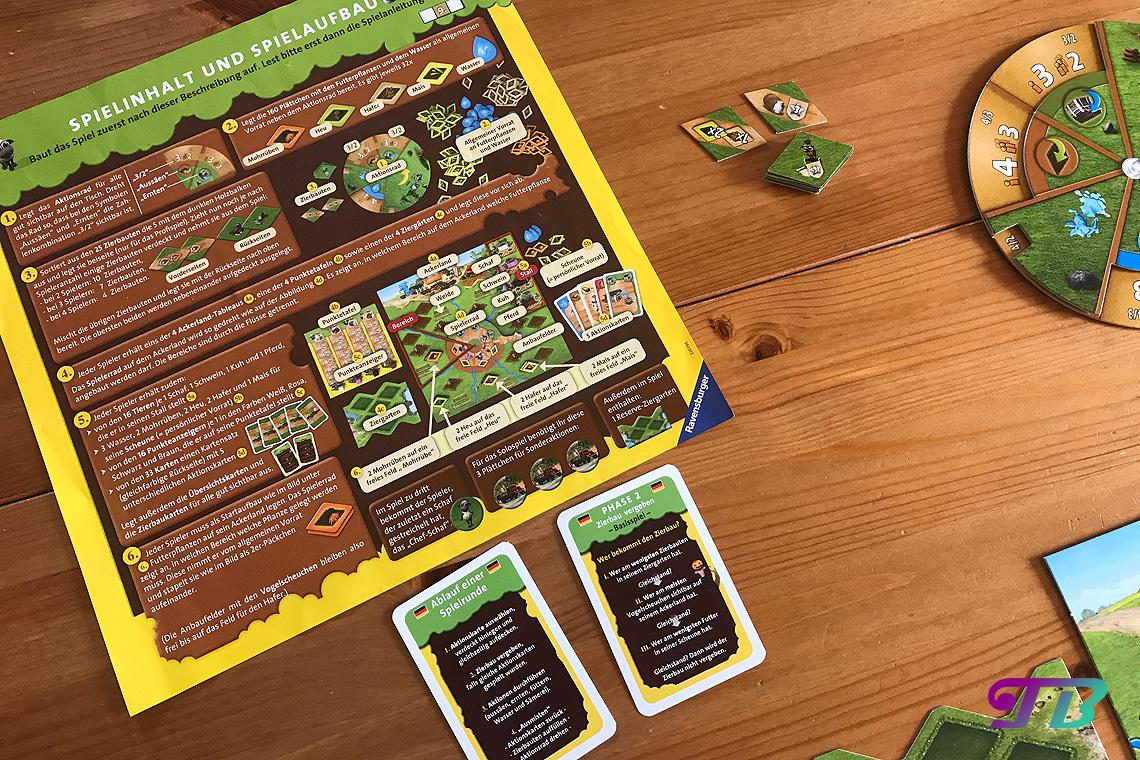 Farmerama Brettspiel Spielanleitung Inhalt Aufbau