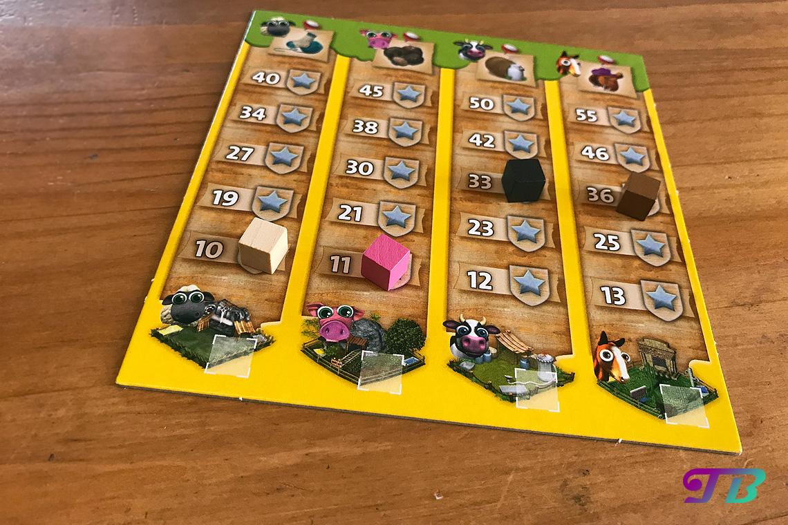 Farmerama Brettspiel Tiere Punktetafel