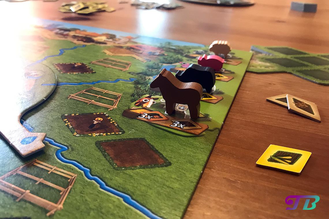 Farmerama Brettspiel Tiere Stall