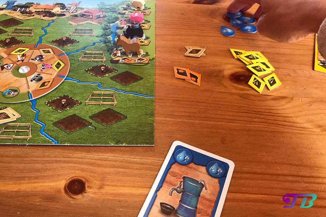 Farmerama Brettspiel Wasser spielen Aktion ausführen