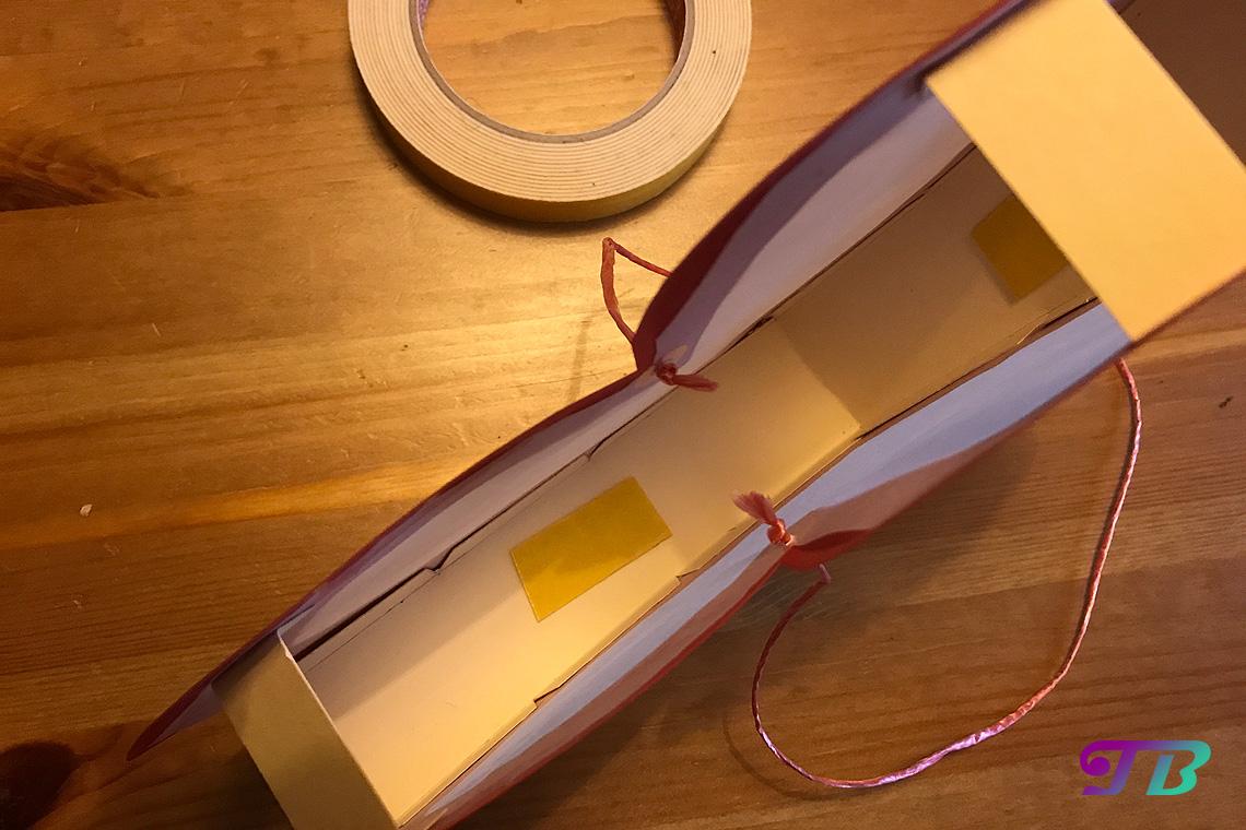 DIY Lastminute Lampion Herz Klebeflächen LED-Lichter