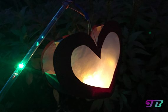DIY Lastminute Lampion Herz