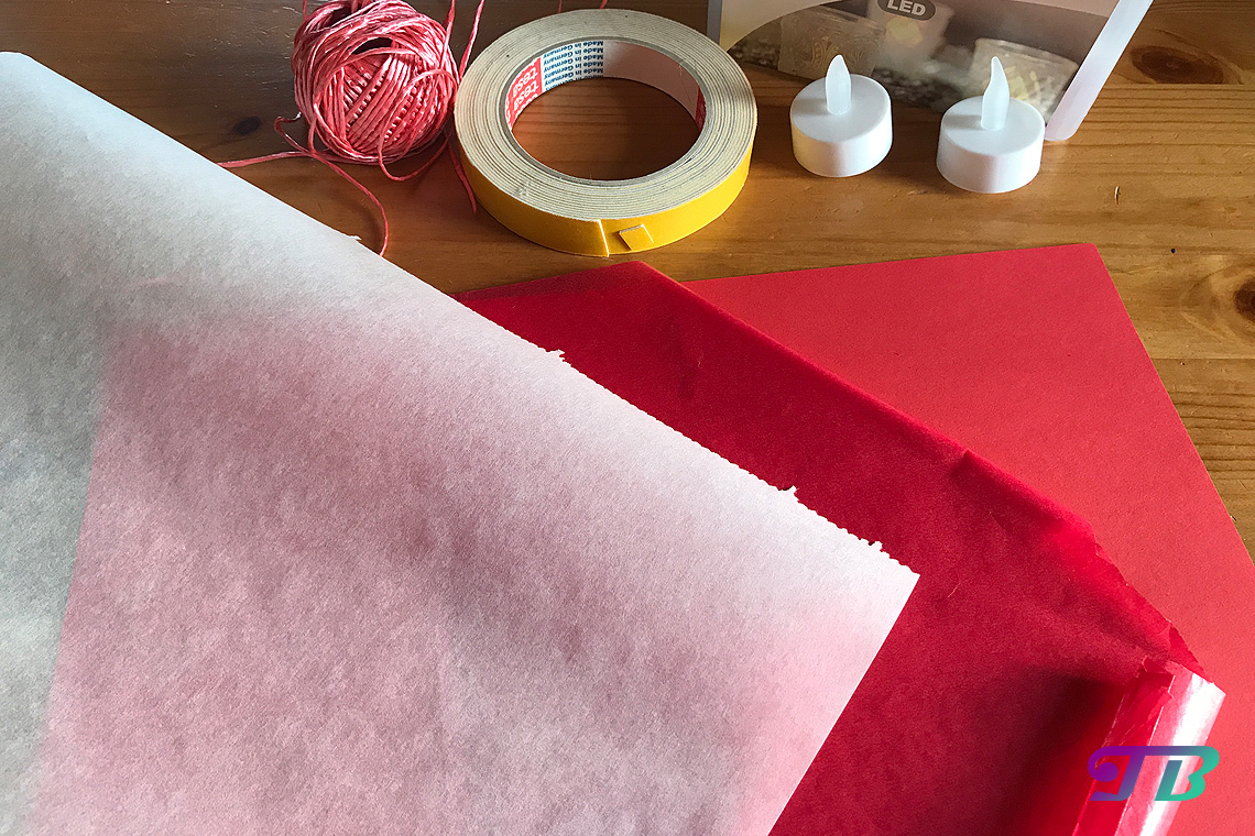 DIY Lastminute Lampion Herz Material