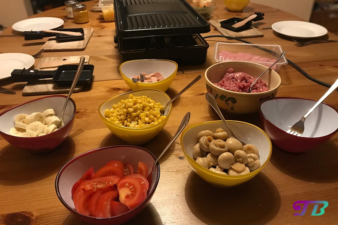 DIY Raclette Zutaten