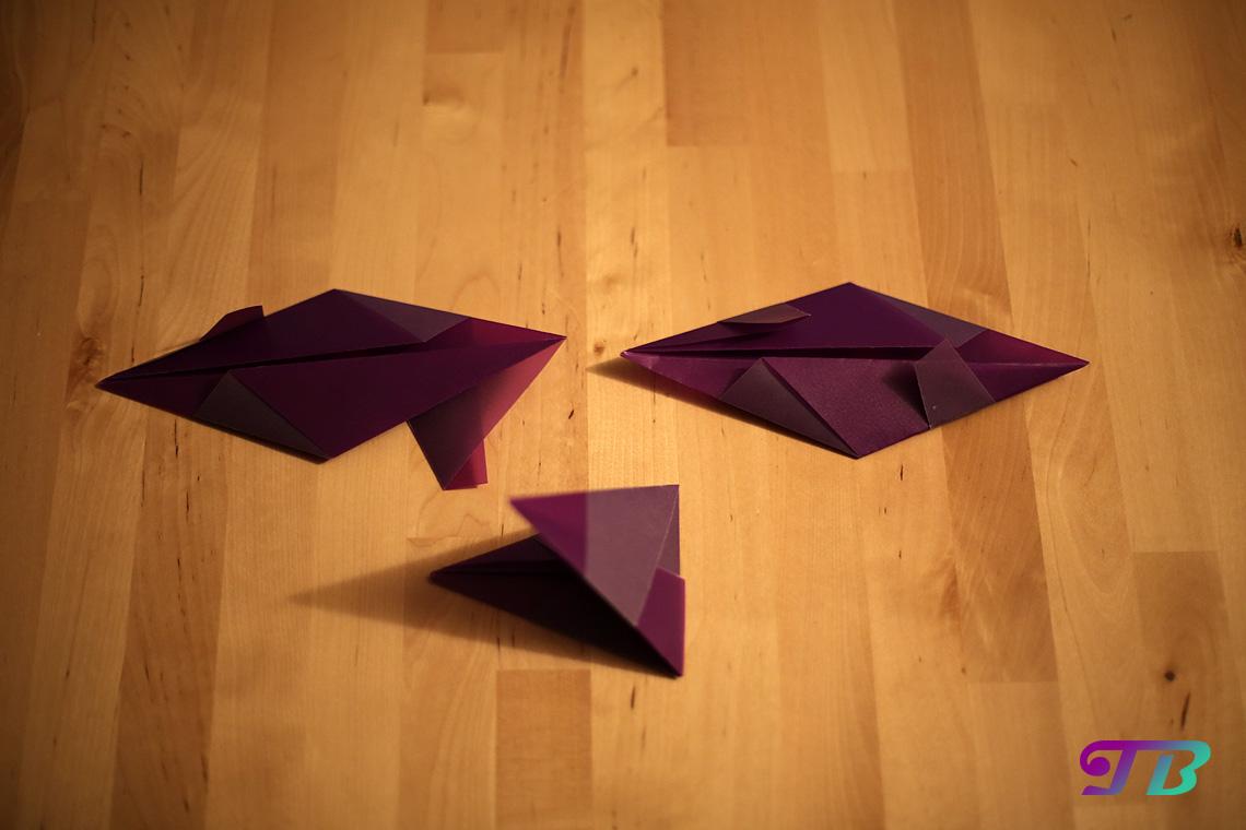 DIY Bascetta Stern Schritte acht neun zehn Falt-Technik