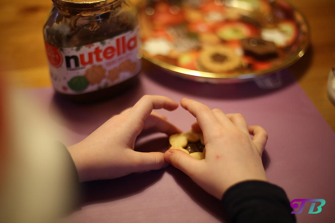 DIY Plätzchen Butterplätzchen gefüllt mit Nutella