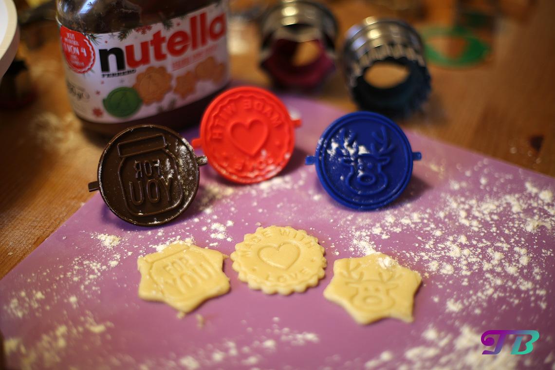 DIY Plätzchen Butterplätzchen Nutella Motiv-Keksstempel