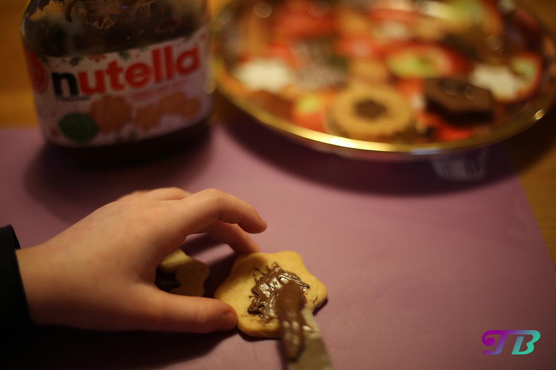 DIY Plätzchen Butterplätzchen Nutella