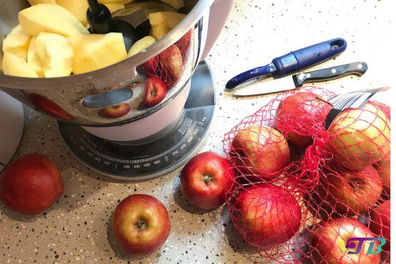 DIY Apfelmus Äpfel schälen Prep & Cook