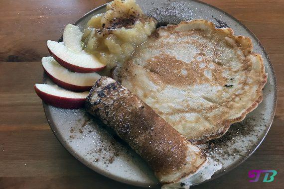 DIY Plinse Pfannkuchen Apfelmus
