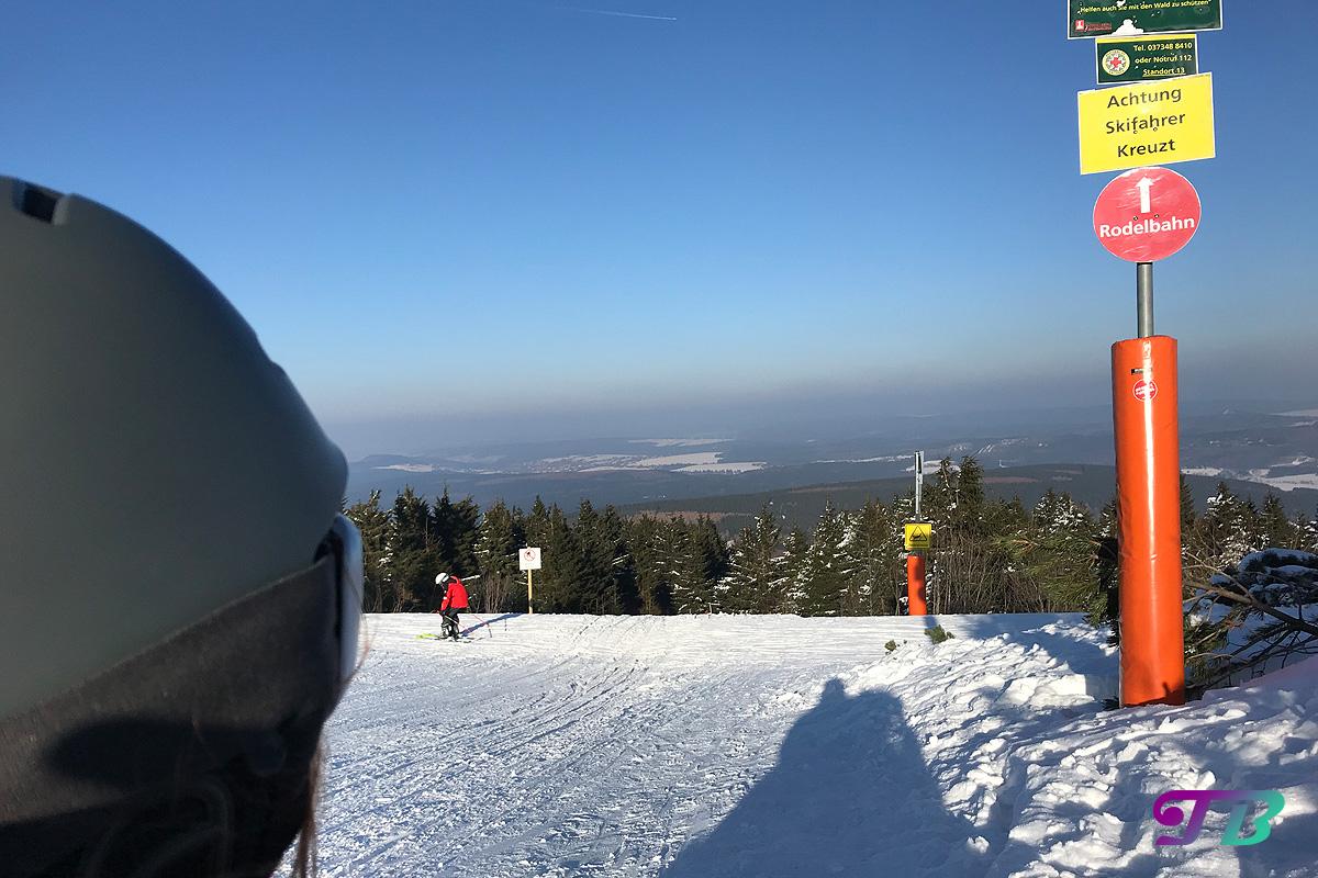 Skifahren Rodel Rodelbahn Rodelpiste Fichtelberg