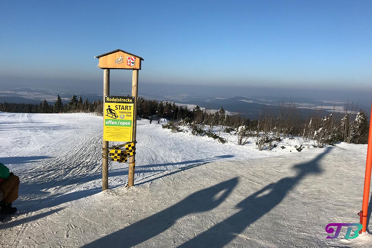 Skifahren Rodel Rodelstrecke Fichtelberg Oberwiesenthal