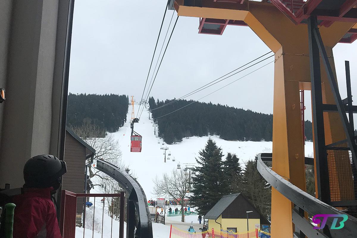 Skifahren Schwebebahn Fichtelberg Oberwiesenthal