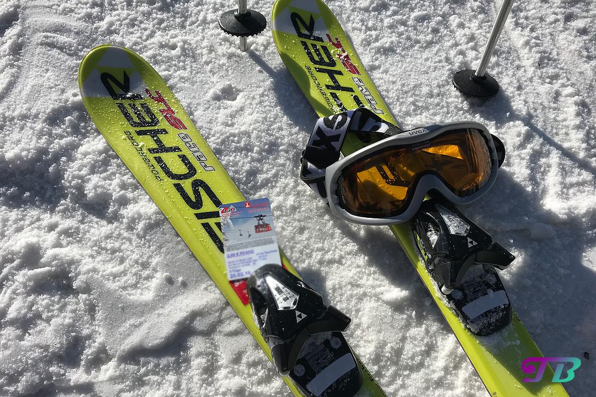 Skifahren Ski Brille Liftkarte Fichtelberg