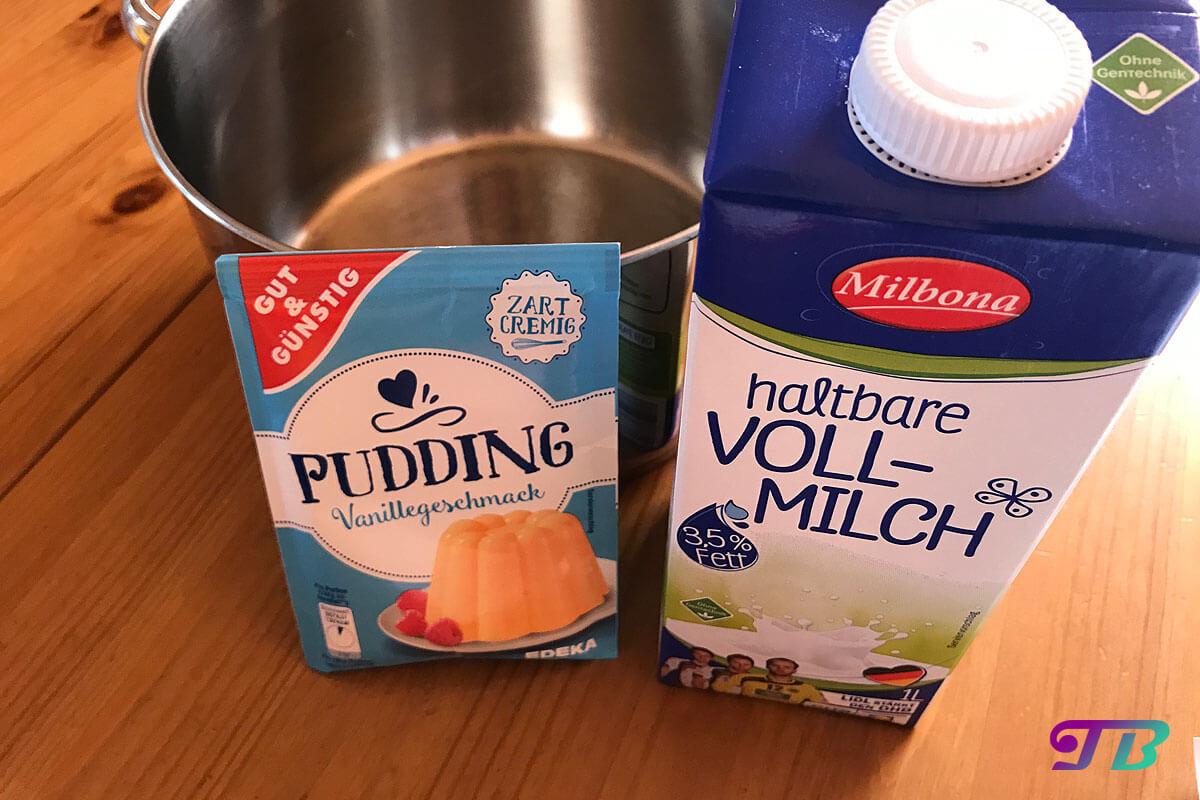Apfelstrudel Vanillesoße Pudding Zutaten