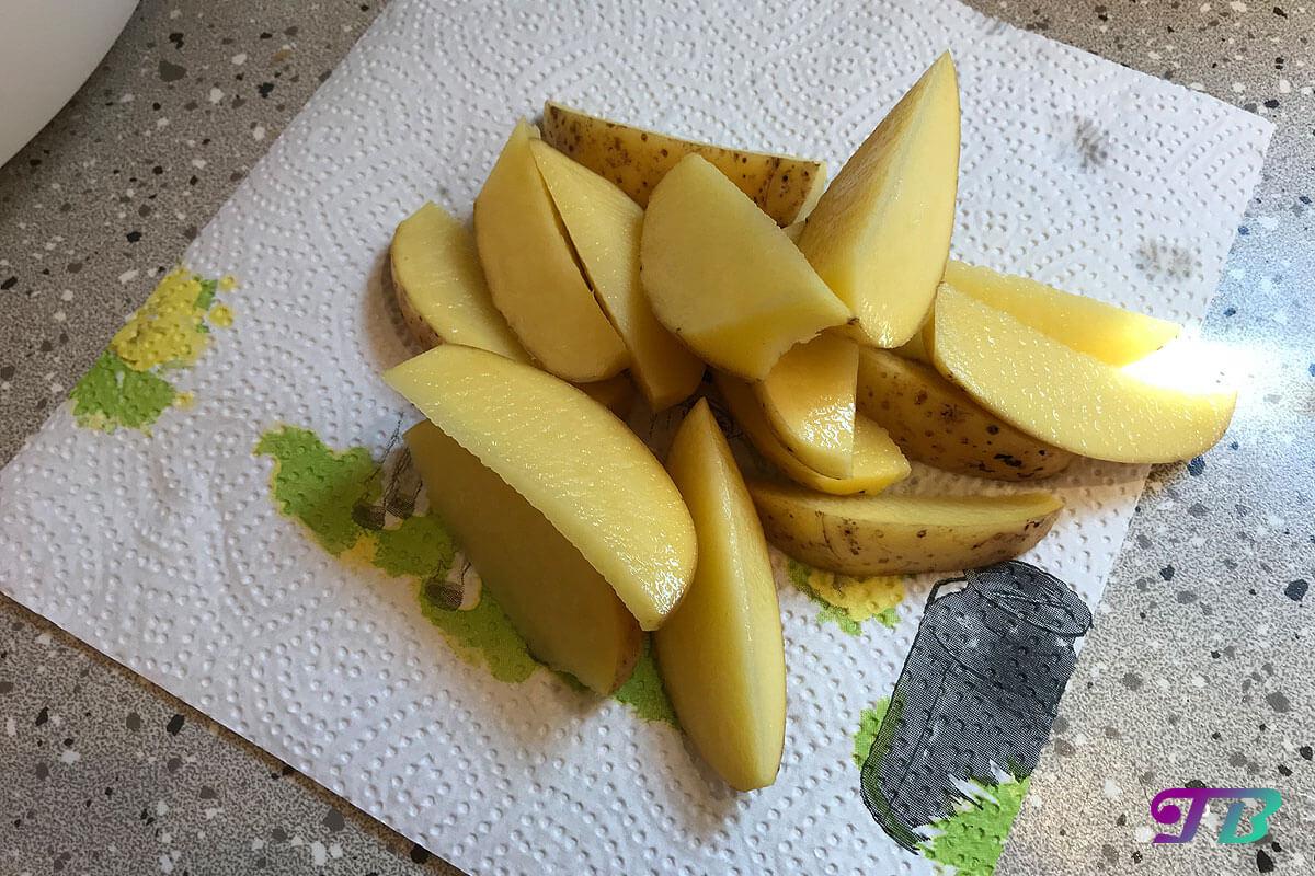 Kartoffelecken Wedges Kartoffeln vierteln
