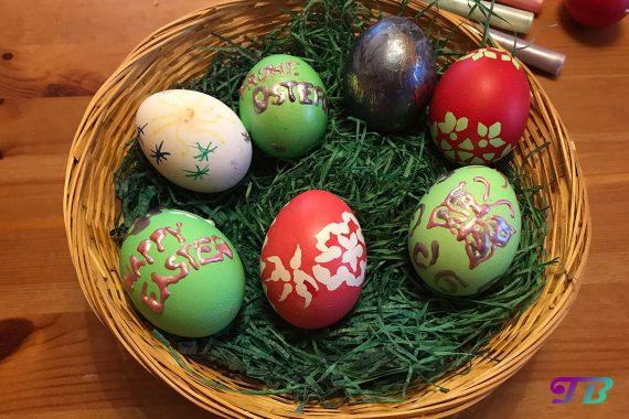 Ostern Eier färben malen Vergleich Färbemethoden Ergebnis