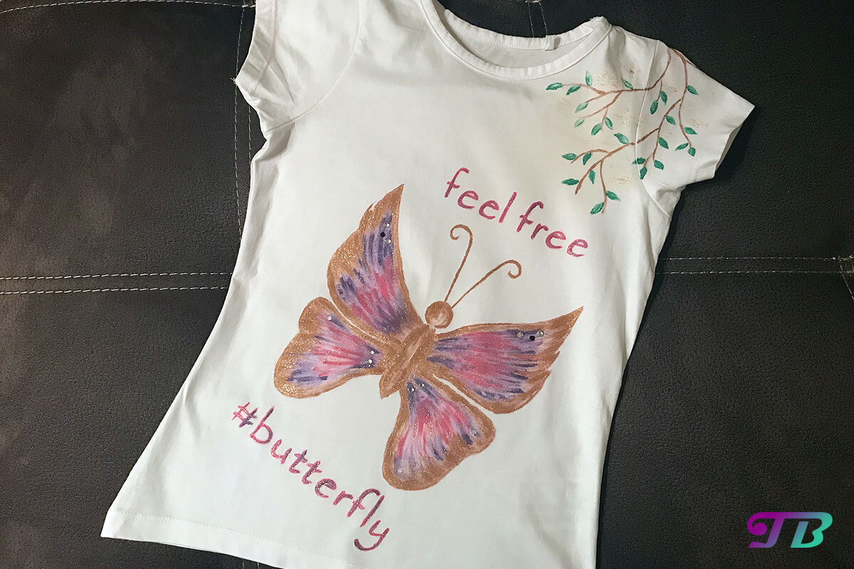 Schmetterling Shirt DIY fertig