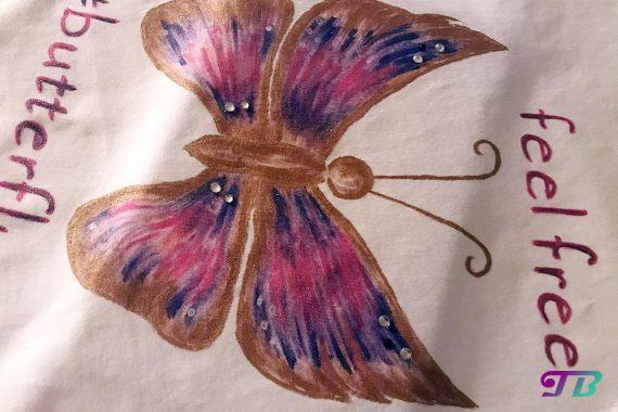 Schmetterling Shirt DIY Strass
