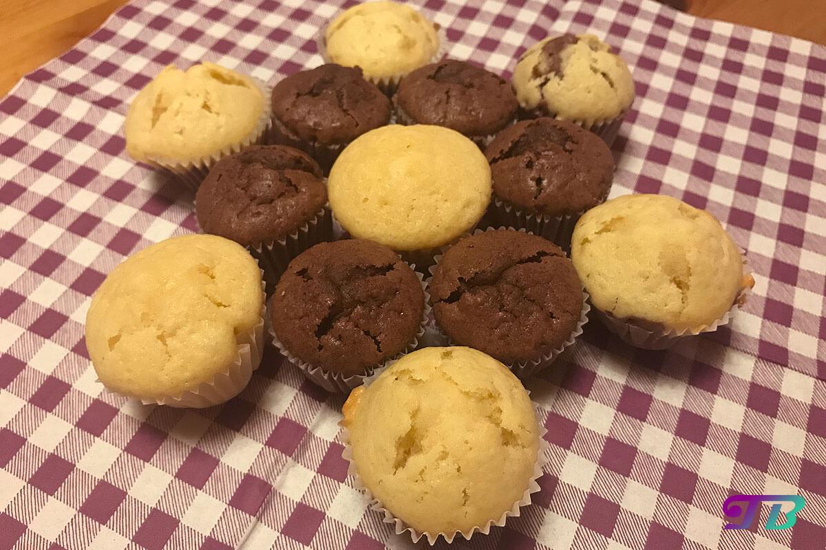 Mini-Muffins fertig Stern gelegt