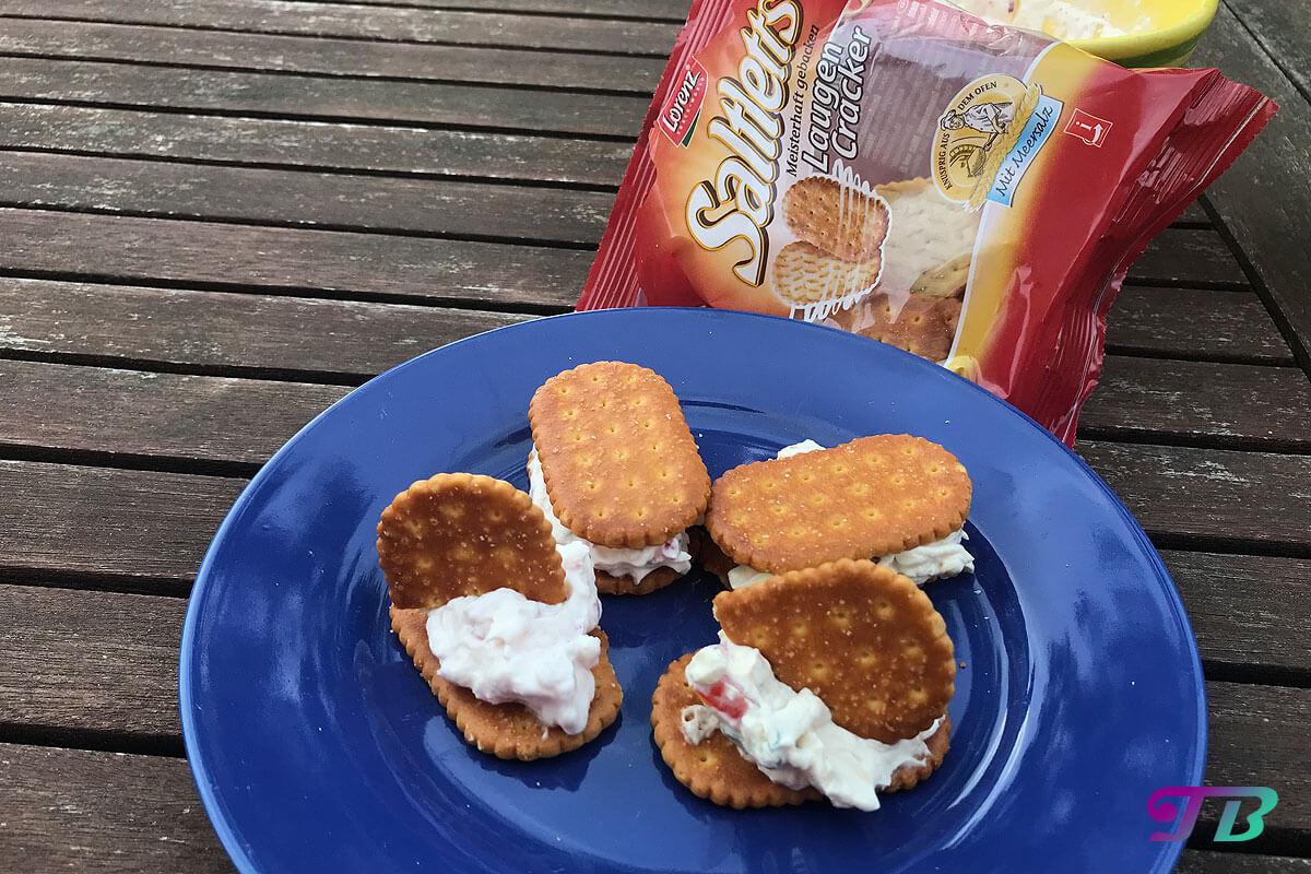 Saltletts Laugen Cracker Frischkäse Aufstrich