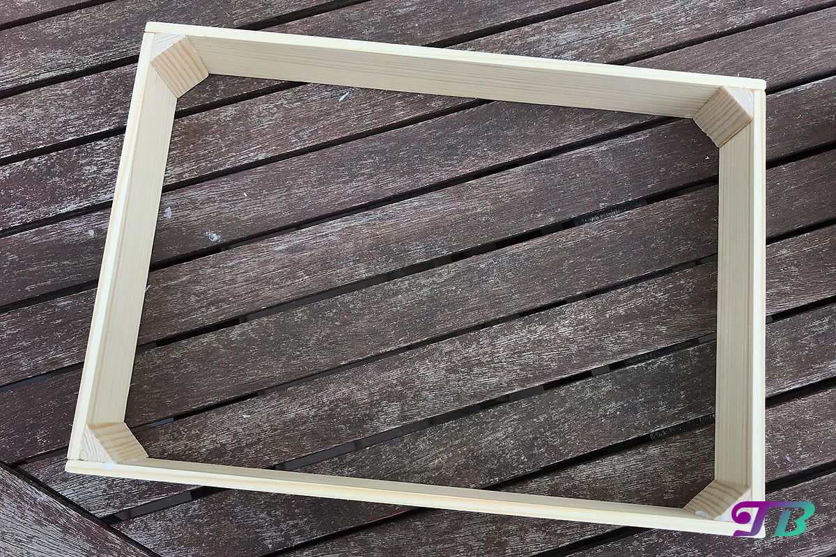 DIY Webrahmen Holzrahmen fertig geklebt