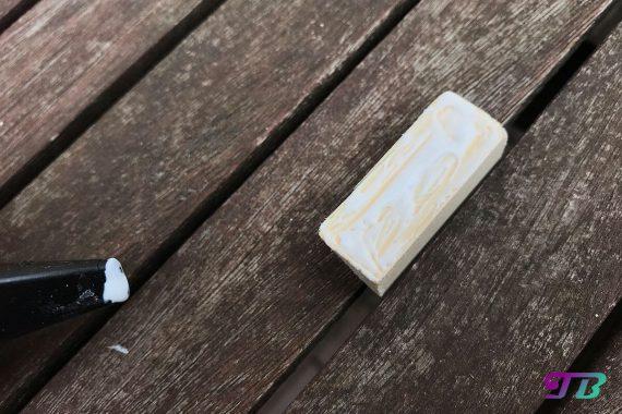 DIY Webrahmen Holz Holzleim Dreikantstück