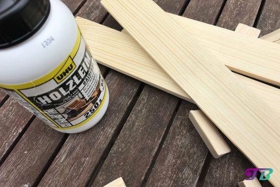 DIY Webrahmen Holz Holzleim