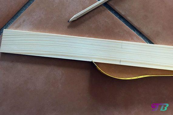 DIY Webrahmen Holz Rechteckleiste Markierung