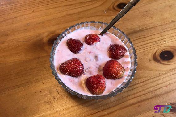 Erdbeer Joghurt DIY Früchte genießen