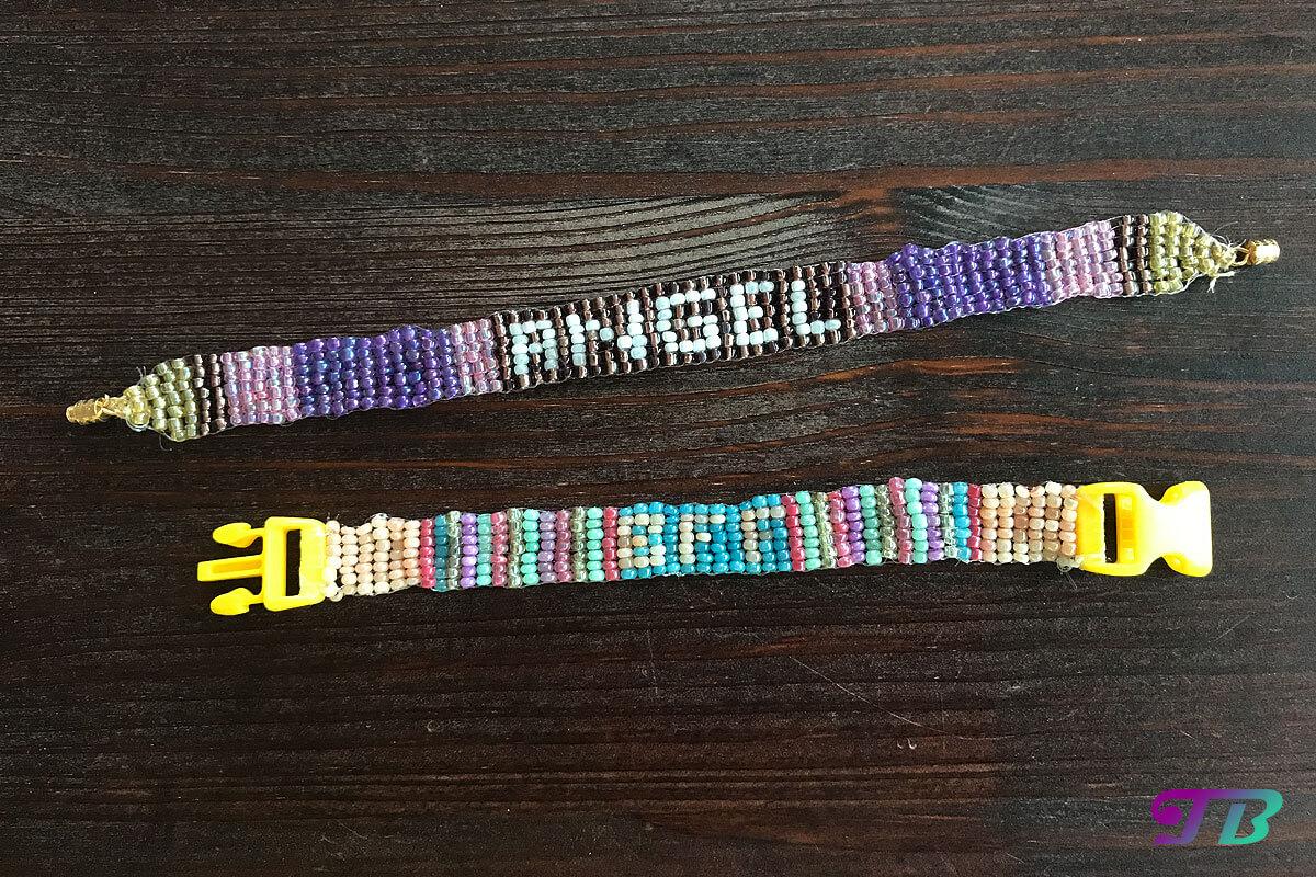 Rocailles Perlen Armband fertig Angel BFF