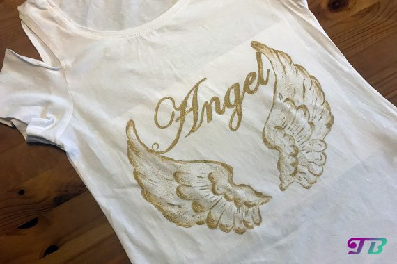 Angel Engel Shirt fertig DIY