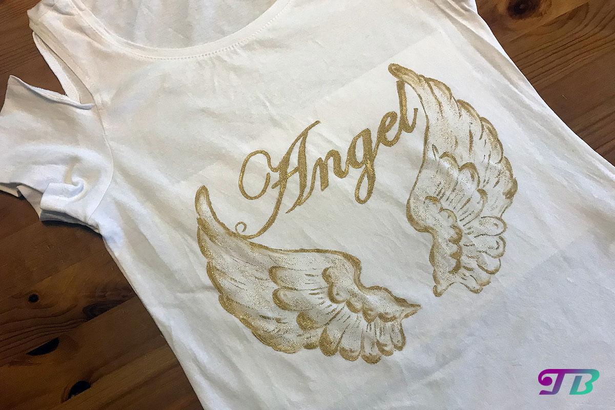 Angel Engel Shirt fertig DIY