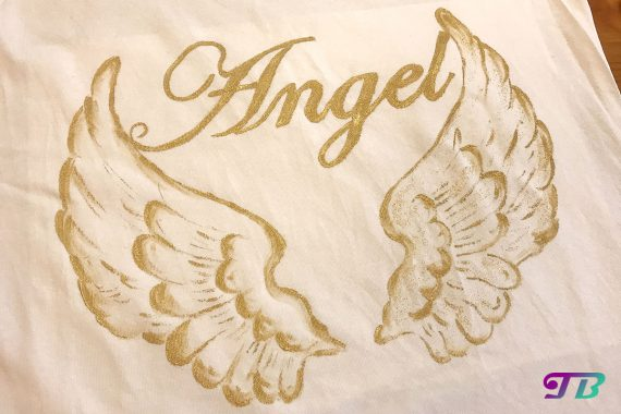 Angel Engel Shirt Textil Glitter DIY
