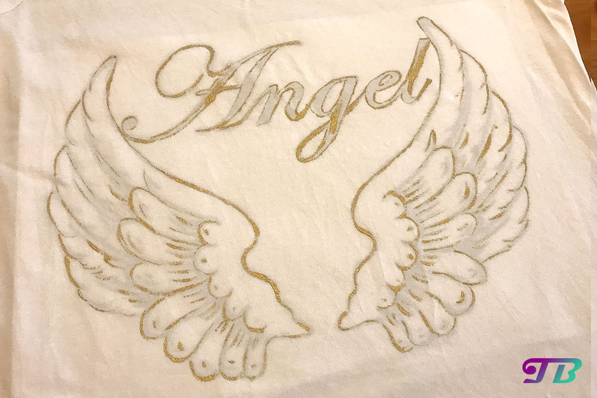 Angel Engel Shirt Umriss DIY