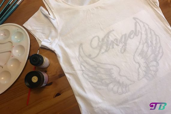 Angel Engel Shirt Vorlage DIY