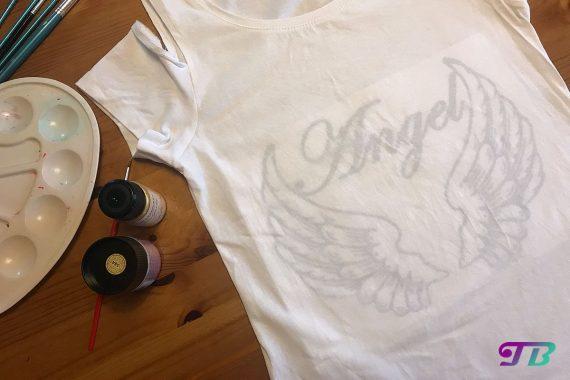 Angel Engel Shirt Vorlage DIY