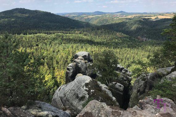 Affensteine Sächsische Schweiz Carolafelsen Felsen Ausblick